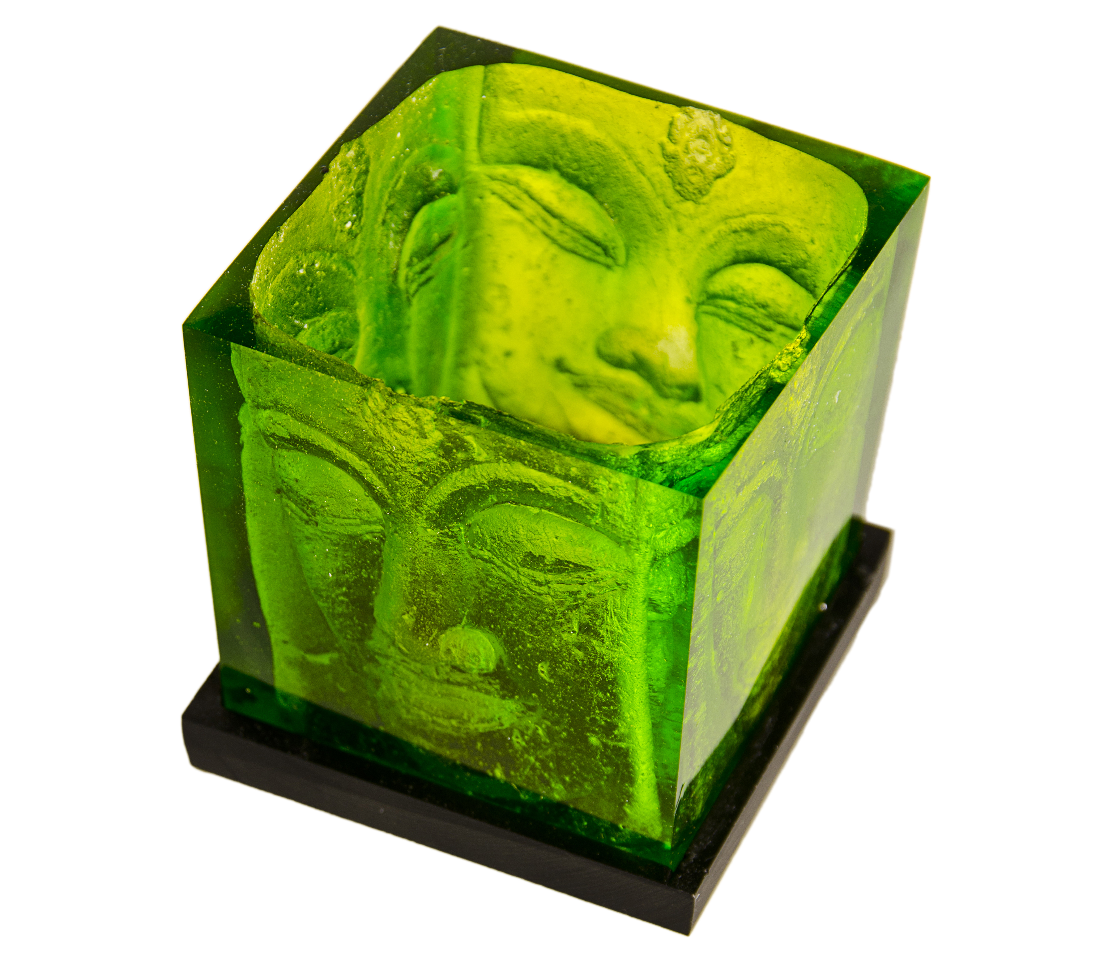 ANI Buddha Candle Holder Green